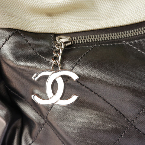 CHANEL PARIS BIARRITZ TRAVEL TOTE BAG - leefluxury.com