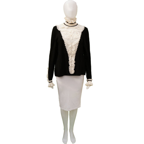 Chanel Pre-Fall 2015 Métiers d'Art Runway Paris Salzburg Karl Lagerfeld Knit Top Shop online the best value on authentic designer used preowned consignment on Leef Luxury.