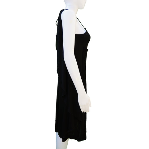 CHANEL SLEEVELESS BACKLESS JERSEY 2009 SPRING COLLECTION DRESS - leefluxury.com