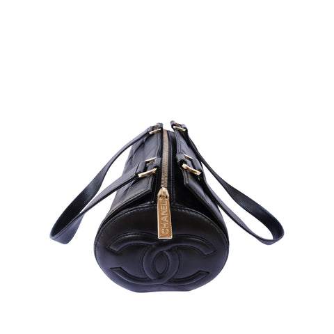 CHANEL QUILTED LEATHER BARREL BAG Shop online the best value on authentic designer used preowned consignment on Leef Luxury.