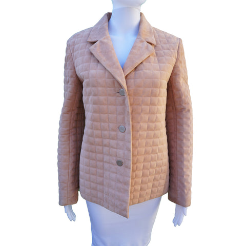 CHANEL MATALESSE QUILTED SUEDE JACKET Shop the best value on authentic designer resale consignment on Leef Luxury.
