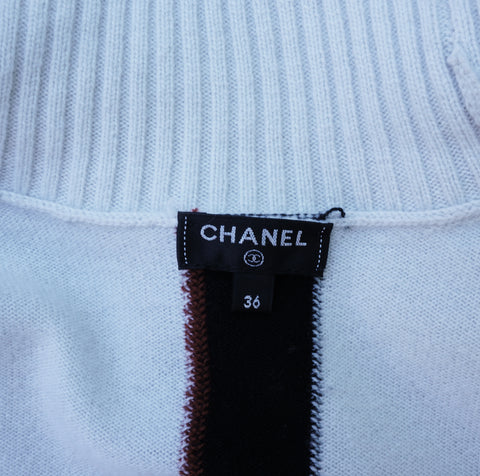 CHANEL 2016 CASHMERE TURTLENECK TOP Shop online the best value on authentic designer used preowned consignment on Leef Luxury.