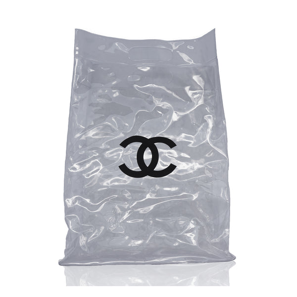 CHANEL TRANSPARENT VINYL SHOPPING BAG