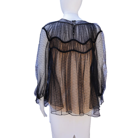 CHLOE LACE BABY DOLL TOP - leefluxury.com
