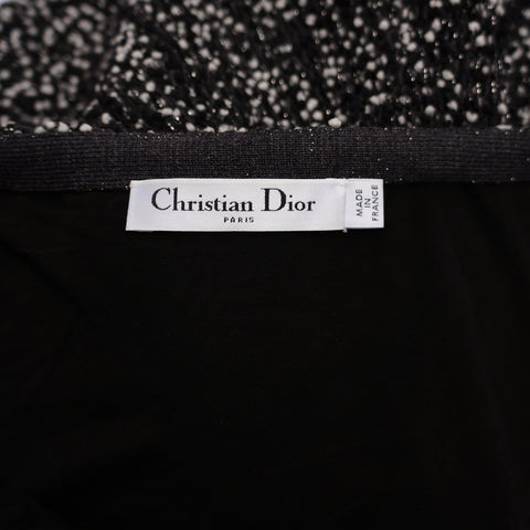 CHRISTIAN DIOR  KNIT  BLACK AND WHITE - leefluxury.com