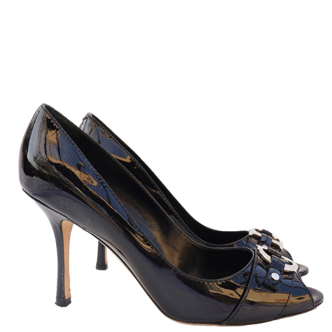 CHRISTIAN DIOR DIOR ID PATENT LEATHER PUMPS Shop online the best value on authentic designer used preowned consignment on Leef Luxury.