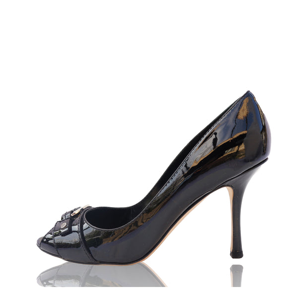 CHRISTIAN DIOR DIOR ID PATENT LEATHER PUMPS