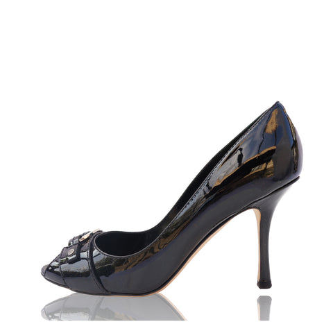 CHRISTIAN DIOR DIOR ID PATENT LEATHER PUMPS - leefluxury.com
