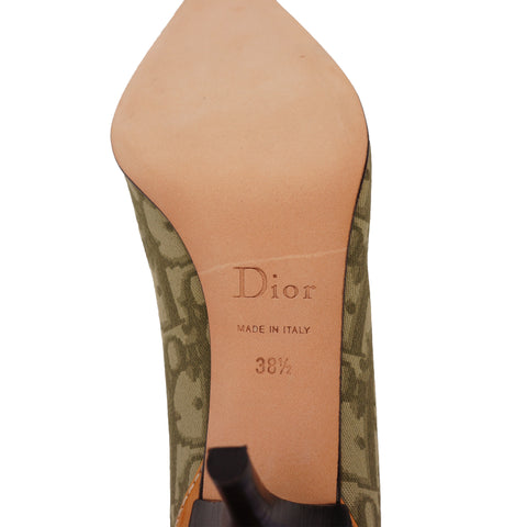 CHRISTIAN DIOR DIORISSIMO POINTED-TOE PUMPS Shop online the best value on authentic designer used preowned consignment on Leef Luxury.