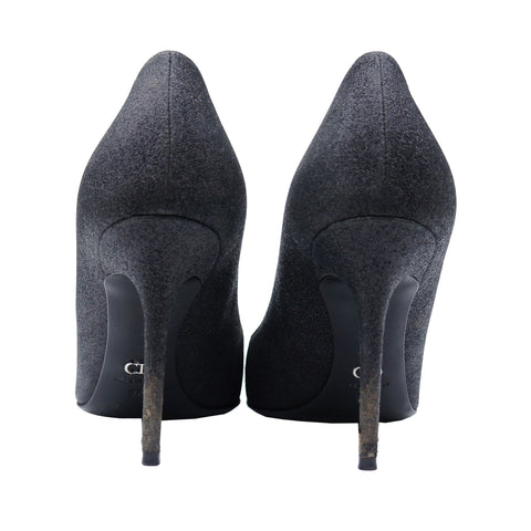 CHRISTIAN DIOR GLITTER PUMP HEELS SHOES - leefluxury.com