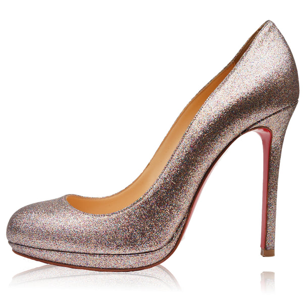 CHRISTIAN LOUBOUTIN GLITTER SIMPLE PUMP