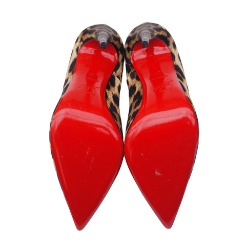 CHRISTIAN LOUBOUTIN SO KATE 120 CREPE SATIN PUMPS - leefluxury.com