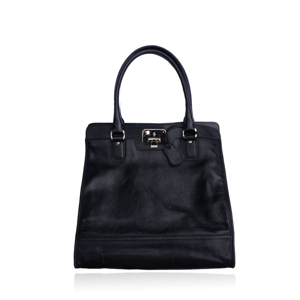 COLE HAAN BLACK LEATHER EXECUTIVE BAG
