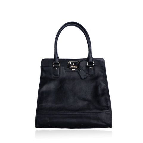 COLE HAAN BLACK LEATHER EXECUTIVE BAG - leefluxury.com