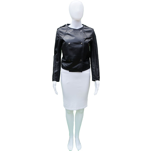 COP COPINE LEATHER BOMBER MOTO JACKET
