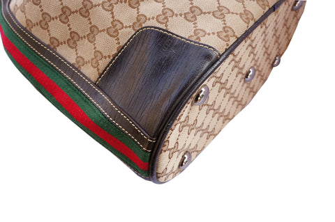 Gucci Web Bucket Bag Sling Back Pack - leefluxury.com