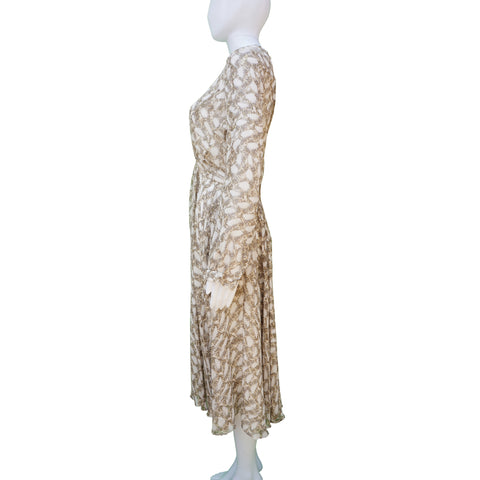 Derek Lam Silk Snake Print Midi Dress - New With Tags