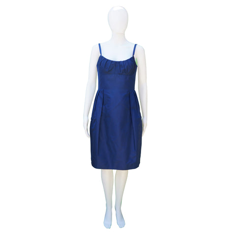 Lida Baday Satin Royal Blue Dress
