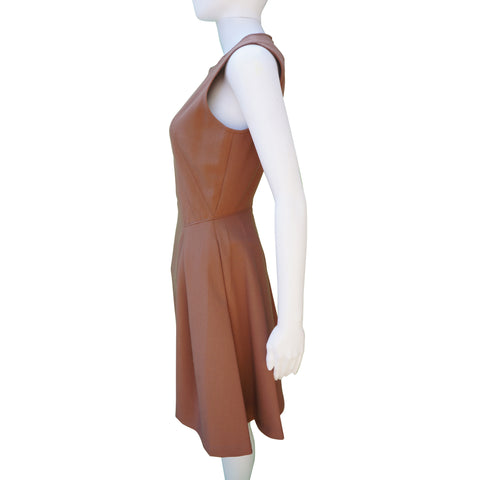 Z Spoke by Zac Posen Taupe Sleeveless Mini Dress New With Tags