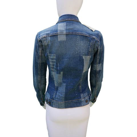 TRUE RELIGION DENIM PATCHWORK JACKET