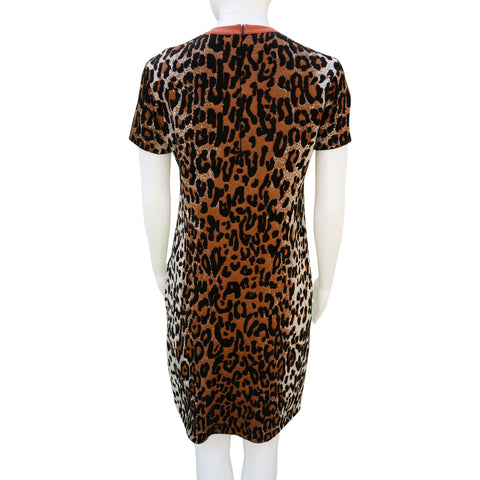 STELLA MCCARTNEY 2016 INTARSIA ANIMAL PRINT KNIT DRESS Shop online the best value on authentic designer used preowned consignment on Leef Luxury