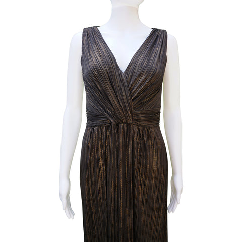 DAVID MEISTER METALLIC SLEEVELESS DRESS