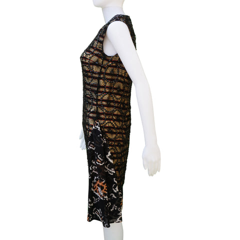DRIES VAN NOTEN SEQUIN OVERLAY DRESS Shop online the best value on authentic designer used preowned consignment on Leef Luxury