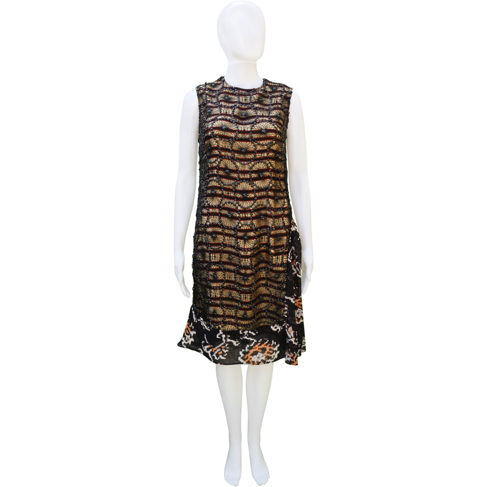 609b847802 DRIES VAN NOTEN SEQUIN OVERLAY DRESS Shop online the best value on  authentic designer used preowned ...
