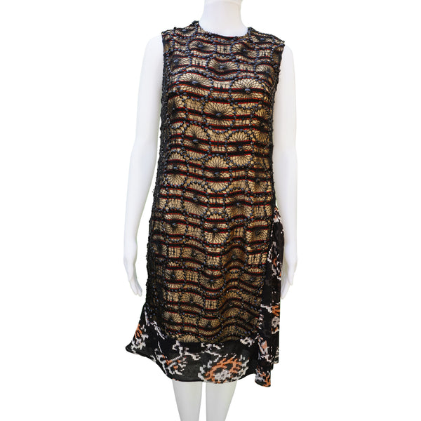 f1fbfcde95 DRIES VAN NOTEN SEQUIN OVERLAY DRESS – leefluxury.com