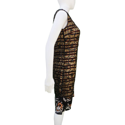DRIES VAN NOTEN SEQUIN OVERLAY DRESS - leefluxury.com