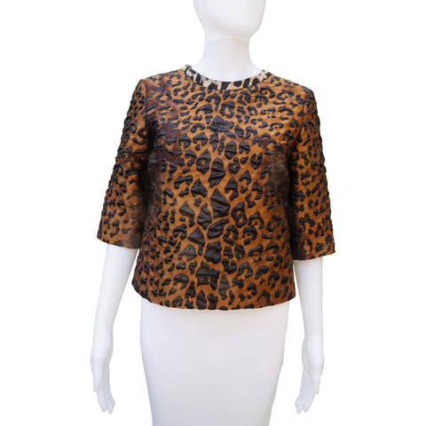 DRIES VAN NOTEN ANIMAL PRINT 2016 TOP Shop online the best value on authentic designer used preowned consignment on Leef Luxury.