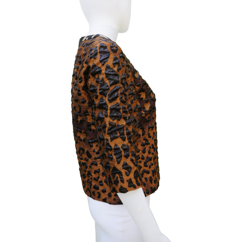 DRIES VAN NOTEN ANIMAL PRINT 2016 TOP - leefluxury.com
