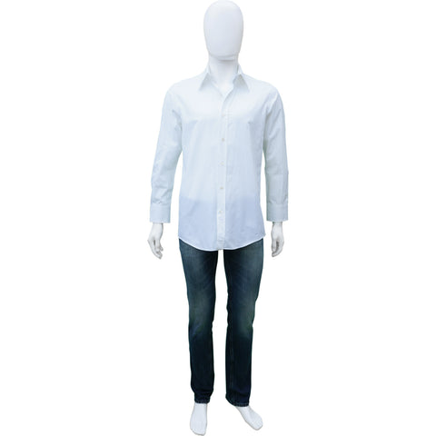 DOLCE & GABBANA MENS WHITE COTTON BUTTON-UP SHIRT Shop online the best value on authentic designer used preowned consignment on Leef Luxury.