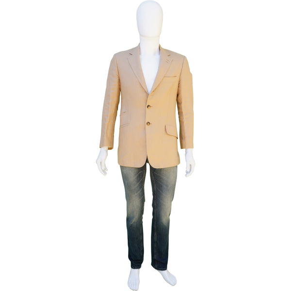 PAUL SMITH LIGHT TAN LINEN SPORT COAT
