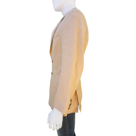 PAUL SMITH LIGHT TAN LINEN SPORT COAT Shop online the best value on authentic designer used preowned consignment on Leef Luxury.