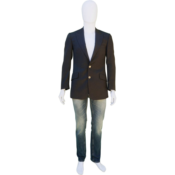 PAUL SMITH CHARCOAL THE BYARD WOOL BLAZER