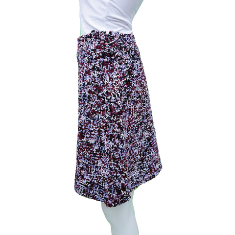 CHRISTIAN  DIOR PURPLE TWEED ALINE MINI SKIRT - leefluxury.com