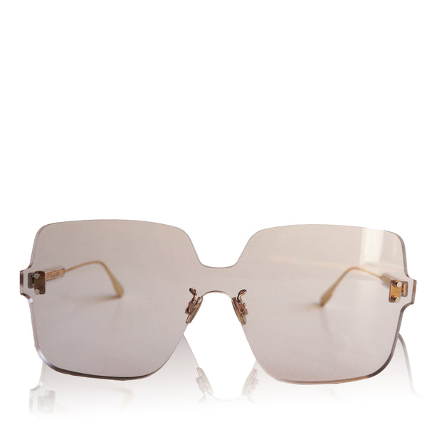 DIOR QUAKE1 SQUARE RIMLESS SUNGLASSES