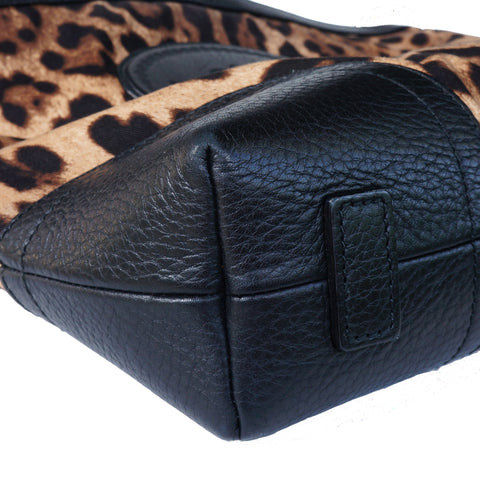 DOLCE & GABBANA ANIMALIER MESSENGER CROSSBODY BAG - leefluxury.com