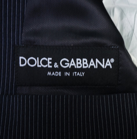 DOLCE & GABBANA STRIPED TWO-BUTTON BLAZER