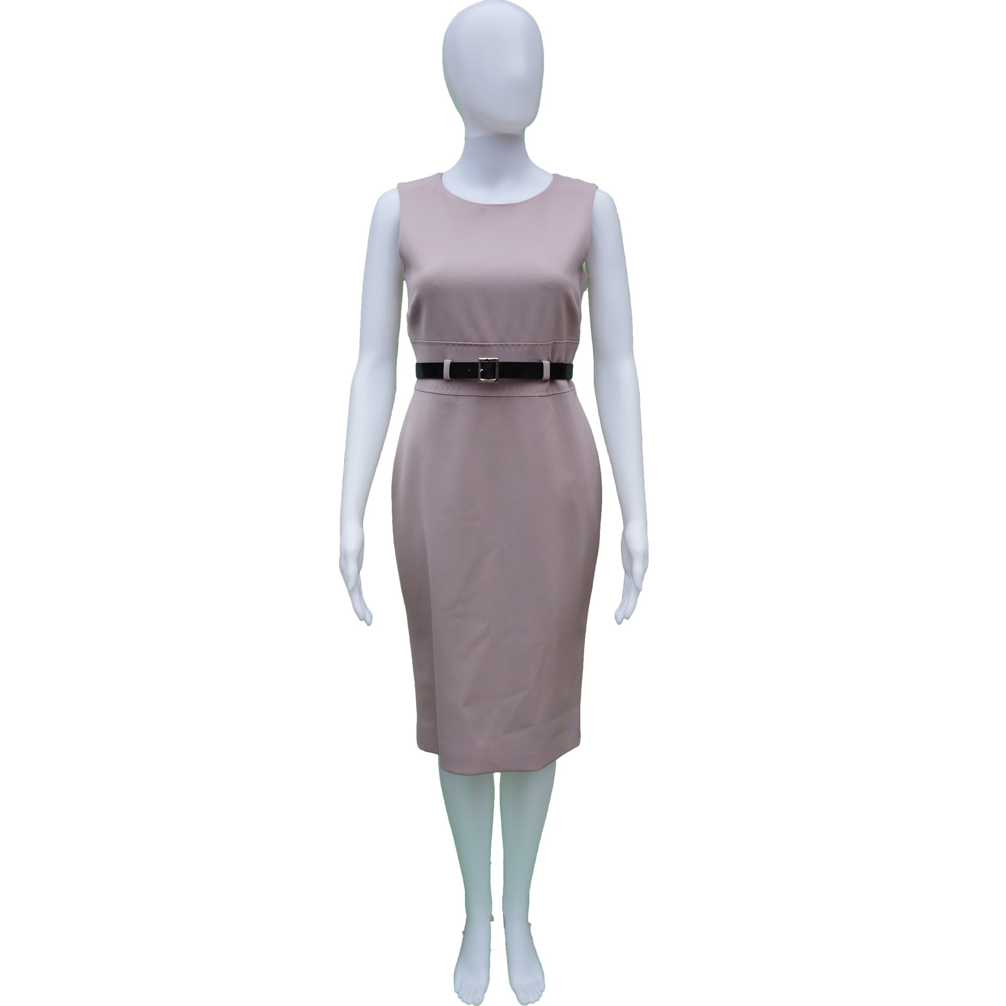 229a9e228c59 DOLCE & GABBANA BLUSH STRETCH WOOL SLEEVELESS DRESS Shop online the best  value on authentic designer ...