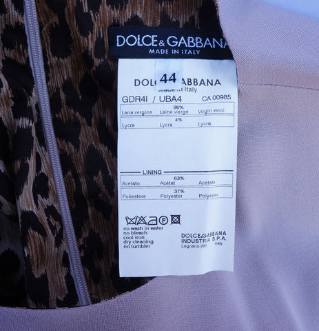 DOLCE & GABBANA STRETCH WOOL SLEEVELESS DRESS - leefluxury.com