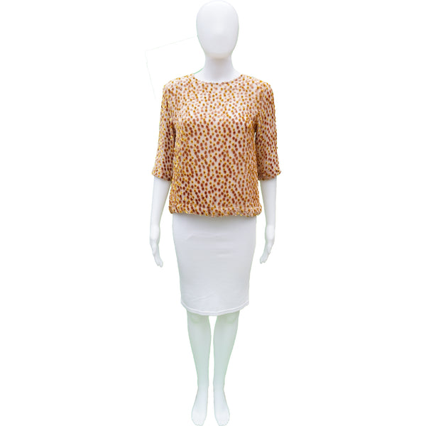 DRIES VAN NOTEN VELVET ANIMAL PRINT BOXY TOP