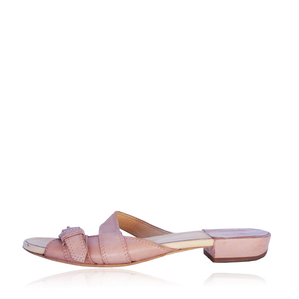 DRIES VAN NOTEN NUDE SANDALS
