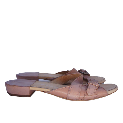 DRIES VAN NOTEN NUDE SANDALS - leefluxury.com