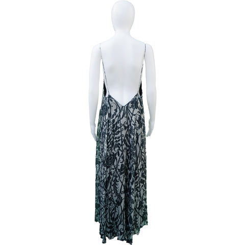 DRIES VAN NOTEN FLORAL PRINT DRESS  Shop online the best value on authentic designer used preowned consignment on Leef Luxury.