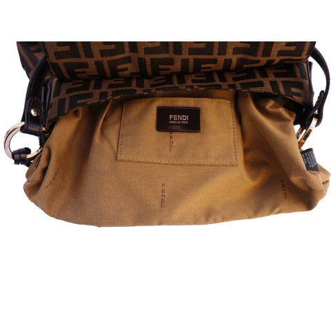 FENDI ZUCCA CHEF SHOULDER BAG - leefluxury.com