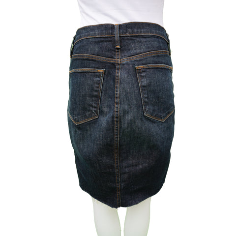 FRAME CATAMARAN MEDIUM DENIM WASH MINI SKIRT - leefluxury.com