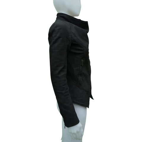 GARETH PUGH ASYMMETRICAL DENIM JACKET Shop online the best value on authentic designer used preowned consignment on Leef Luxury.