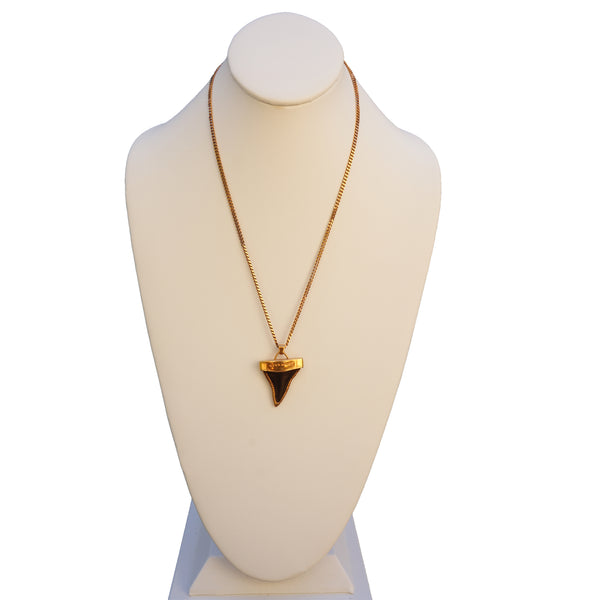 GIVENCHY SMALL SHARK TOOTH DOUBLE STRAND NECKLACE